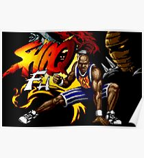 Shaq Fu (Genesis Title Screen) Poster