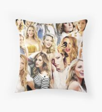 blake lively collage Throw Pillow