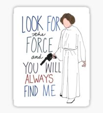 Rest In Peace Princess Leia Sticker