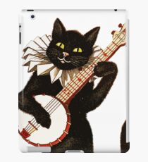 Vintage Cat Playing Banjo iPad Case/Skin