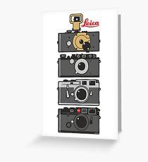 Leica camera evolution Greeting Card