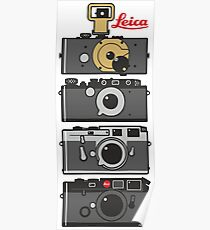 Leica camera evolution Poster