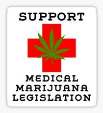Support Medical Marijuana Legislation Sticker