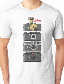 Leica camera evolution Unisex T-Shirt