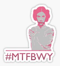 May the Force Be With You Leia hashtag Sticker