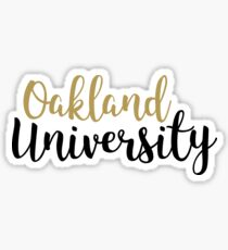 Oakland University Sticker