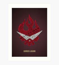 Gurren Lagann typography Art Print
