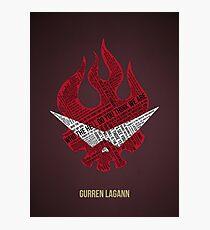 Lámina fotográfica Tipografía Gurren Lagann