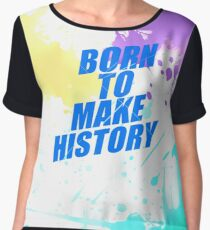 "Yuri!! On Ice- ""Born to Make History"" Women's Chiffon Top"