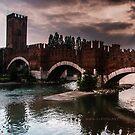 Castlevecchio Bridge, Verona, Italy by L Lee McIntyre