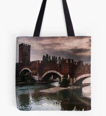 Castlevecchio Bridge, Verona, Italy Tote Bag