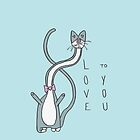 Love to You Cat Illustration by Jess Emery