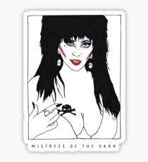 Mistress of the Dark Sticker