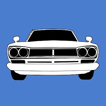 Original C10 Datsun / Nissan GTR in Black & White | Stickers and Tees  by TheStickerLab