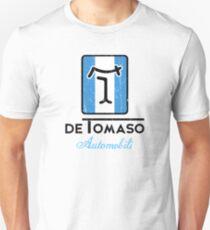 De Tomaso Automobili TALL Badge Distressed Unisex T-Shirt