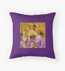 Violet Buds in Julie's garden #1 Throw Pillow