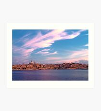 Sunset On Valletta Art Print