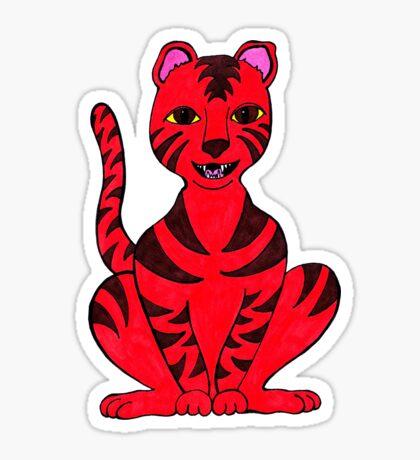 Tiger Puss Sticker