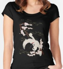 Japanese Crane Women's Fitted Scoop T-Shirt