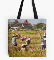 Bali Rice Fields Tote Bag