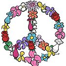 Flower Peace Symbol by Brett Gilbert