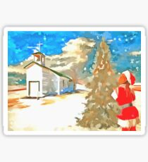 Christmas In The Country Sticker