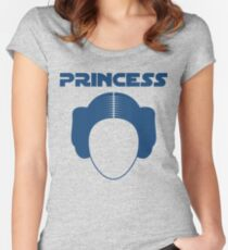 Star Wars Princess Leia Carrie Fisher Women's Fitted Scoop T-Shirt