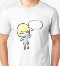 pretty blond girl cartoon Unisex T-Shirt