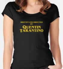 Quentin Tarantino Titles Women's Fitted Scoop T-Shirt