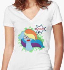 Tsundere Dash Women's Fitted V-Neck T-Shirt