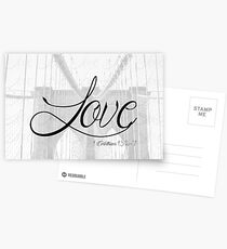 Love (1 Corinthians 13:4-7) Postcards
