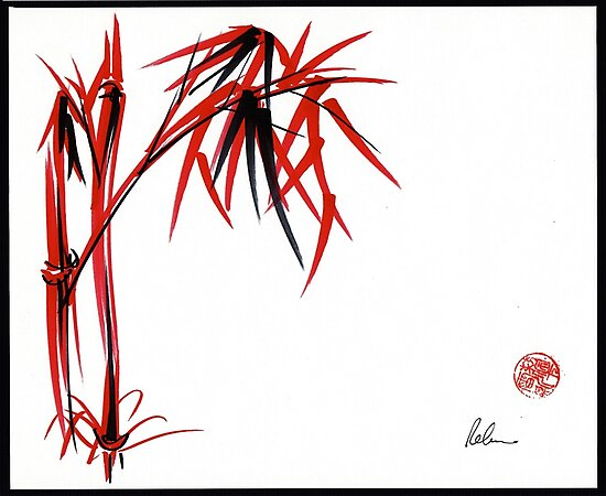 """""""Nature's Kiss"""" Original Chinese Brush Painting by Rebecca Rees"""