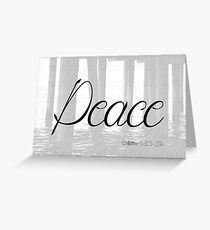 Peace (Matthew 6:25-34) Greeting Card