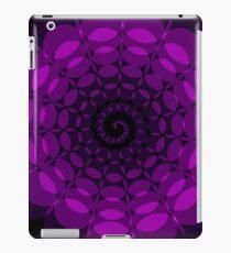 complex purple spiral iPad Case/Skin