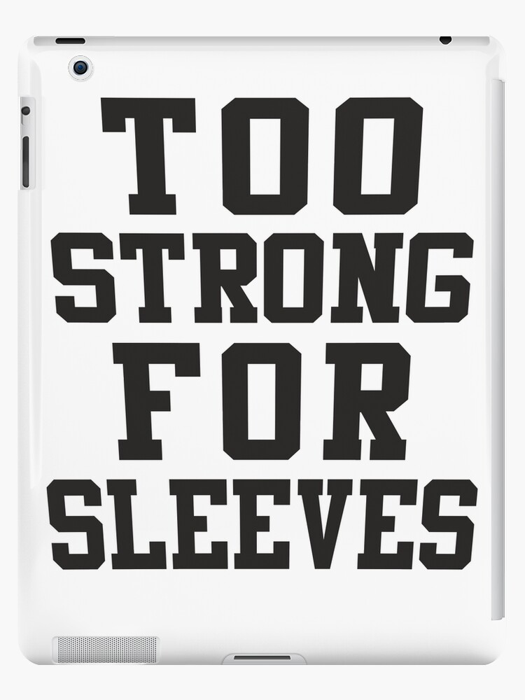 Too Strong For Sleeves, Black Ink | Women's Funny Fitness Top, Crossfit Clothes by Tradecraft Apparel