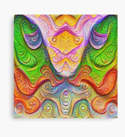 Color Stone carving #DeepDream Canvas Print