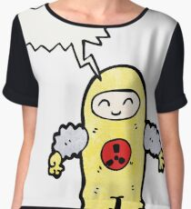 man in radiation proof suit Chiffon Top