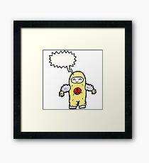 man in radiation proof suit Framed Print