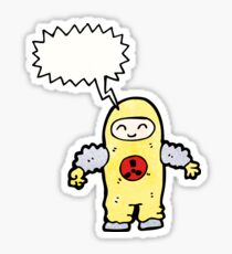 man in radiation proof suit Sticker