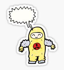 man in radiation proof suit Sticker