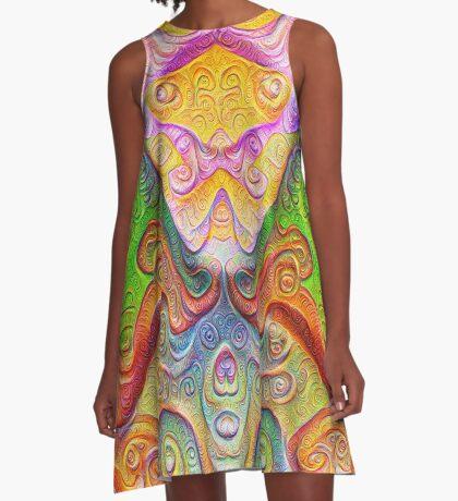 Color Stone carving #DeepDream A-Line Dress