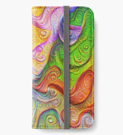 Color Stone carving #DeepDream iPhone Wallet