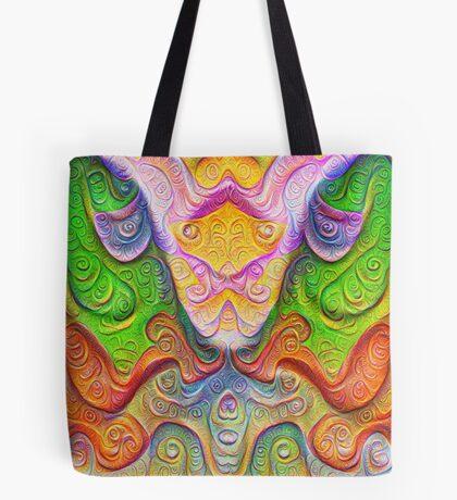 Color Stone carving #DeepDream Tote Bag