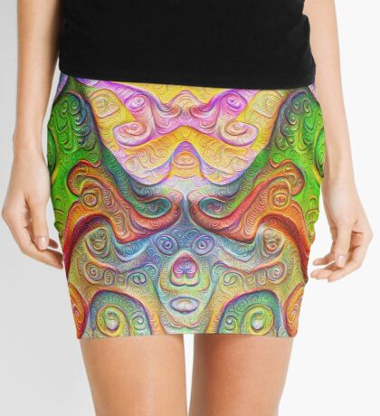 Color Stone carving #DeepDream Mini Skirt