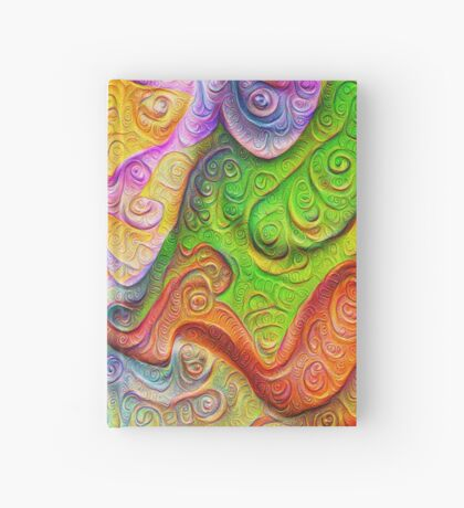 Color Stone carving #DeepDream Hardcover Journal