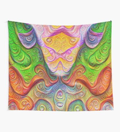 Color Stone carving #DeepDream Wall Tapestry