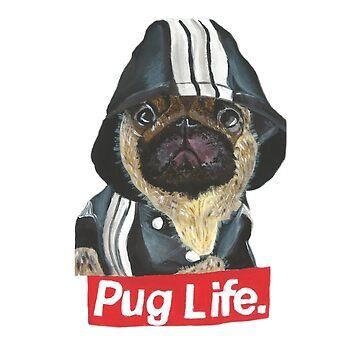 Pug Life - KP/Art by katiepalmerart