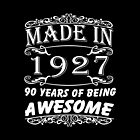 Special Gift For 90th Birthday - Made in 1927 Awesome Shirt by amazingstore