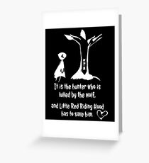 Little Red Riding Hood T-Shirt  Greeting Card