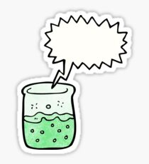 cartoon chemical beaker Sticker